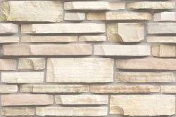 Natural stone Matt Brick Ceramic Wall Tiles, Thickness: 5 mm