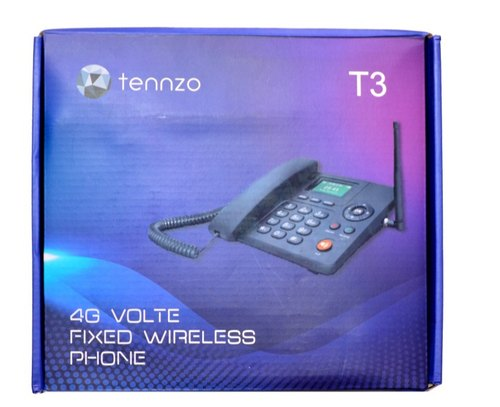 Black GSM 4G Volte Fixed Wireless Phone, Model Number: T3
