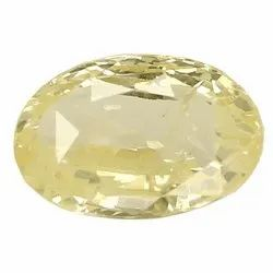 Fancy Light Yellow Oval - Cut Natural Ceylon Yellow Sapphire