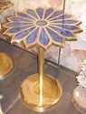 Lapis Lazuli Brass Coffee Table