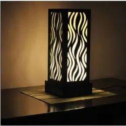 Black Handmade Acrylic Lamp