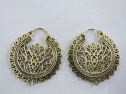 Brass Fancy Ear Rings