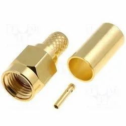SMA Male for RG 58 Gold Plated Cable
