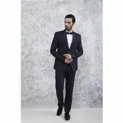 Black Party Wear Mens Two Piece Wedding Suit