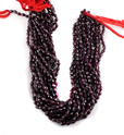 Red Garnet Faceted Tear Drops Natural Beads