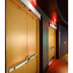 Wooden Emergency Exit Door