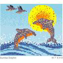 Dolphin Design Glass Mosaic Mural