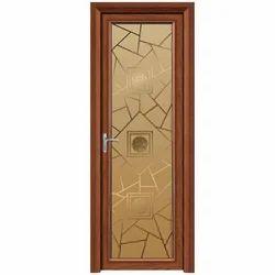 Brown Powder Coated Aluminium Bathroom Door