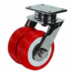 Plate Mounted Twin Caster Wheel