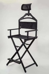 Black Aluminium BN103- Portable Make Up Chair with Headrest for Professional