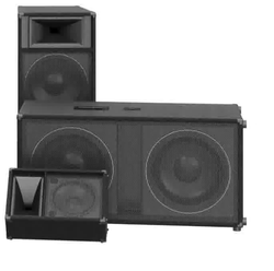 Black Wooden Audio Speaker System