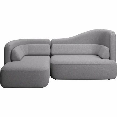 Grey L Shaped Sofa, Rs 2400 /running feet, B2 Sofa Collection   ID ...