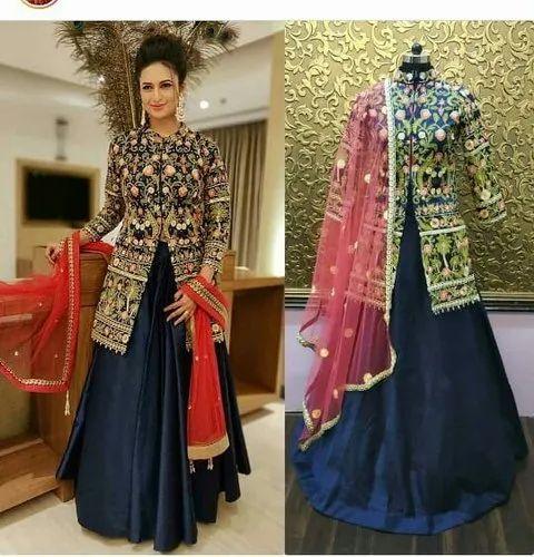 efc7f91974 Royal Blue Divyanka Tripathi Lehnga Choli Dress