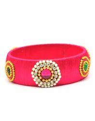 Pink Silk Thread Bangle