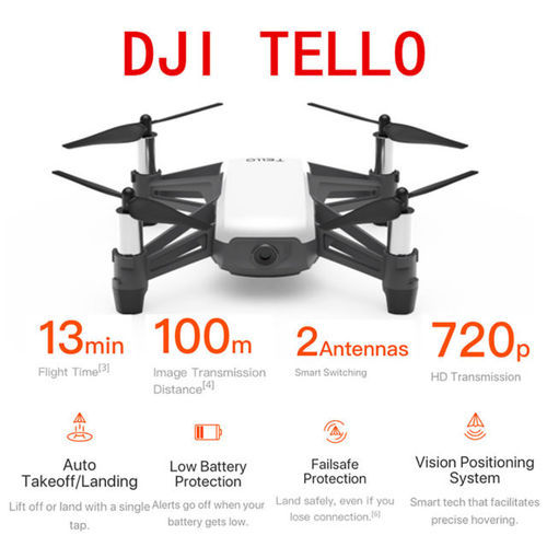 Dji Tello Drone With 5mp Hd Camera 720p Wi Fi Fpv 8d Flips Bounce Mode  Quadcopter Stem Coding Newest