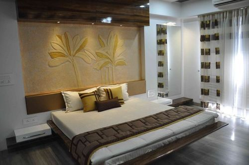 Wood Master Bed Room Interior Design Service Id 19063598233