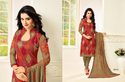 Printed Red And Grey Rr Fashion Salwar Kameez