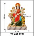 Marble Look Shri Krishna Statue With Cow