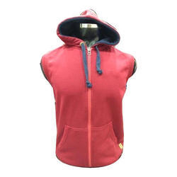 Mens Sleeveless Zipper Hoodie