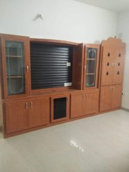PVC TV Showcase With Pooja Unit, For Residential