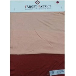 Beige And Red Plain Viscose Lycra Jersey Fabric, Gsm: 200-250, Packaging Type: Roll