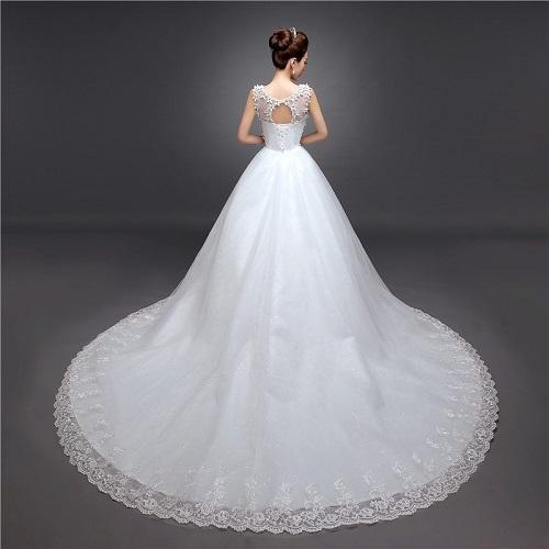 Christian Wedding White Gown: White Medium , Large Christian Bridal Dress, Rs 8000