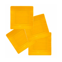 Melamine Square Snack Plate (YELLOW)