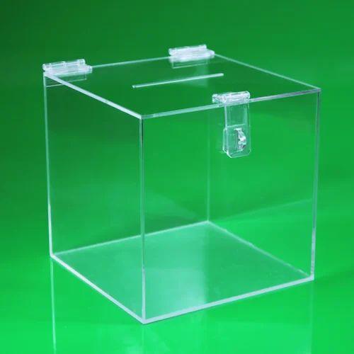 Transparent Acrylic Box Acrylic Suggestion Box Omkar Acrofab