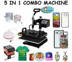 Heat Press 5 in 1 Mug Printing Machine for Caps Mobile Covers TShirts