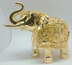 Designer Gold Plated Elephant Statue