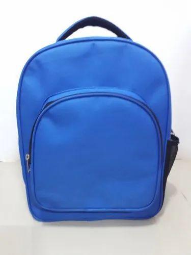 Nylon Plain Kids School Bag