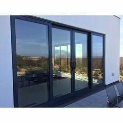Powder Coated Decorative Aluminium Doors, For Residential
