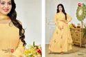 Round Neck 3/4 Sleeve Moof Salwar Suit Fabric