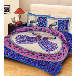 Cotton Floral Print Printed Bed Sheets Set, Size: 90*100