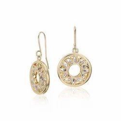 Drop Earrings Pattern In Gold