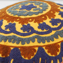 Circular Embroidered Cushion