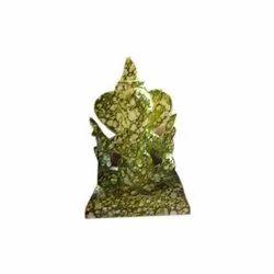 Green Glass Ganesh Statue