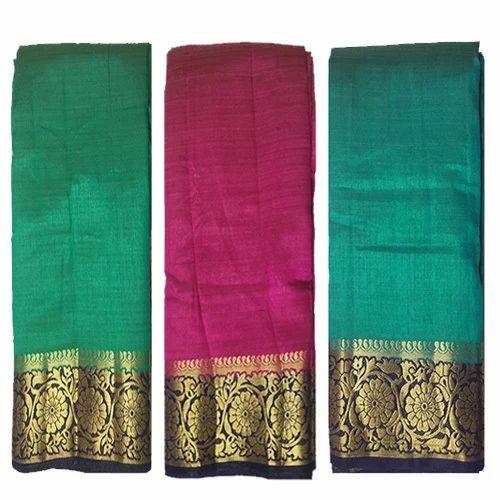 Party Golden Zari Work Wear Silk Saree