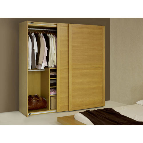 Brown Bedroom Wooden Sliding Almirah, Rs 1000 /square Feet