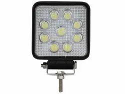 MATTEL High Intensity Discharge LED Work Lamp, 27W, Voltage: 12V