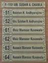 Brass Name Boards