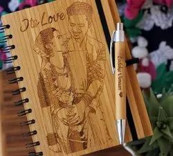 Personalized Engraved Photo Dairy