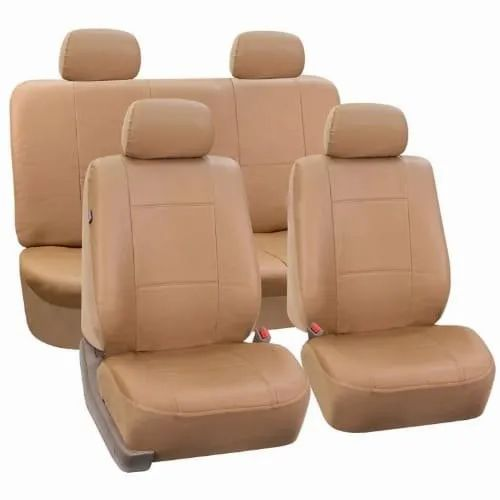 Light Brown Leather Car Seat Cover