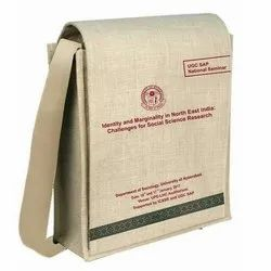 Plain And Printed Jute Conference Bag