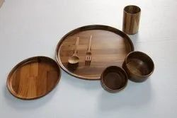 Natural Wood Wooden Handicraft Products, For Restaurants
