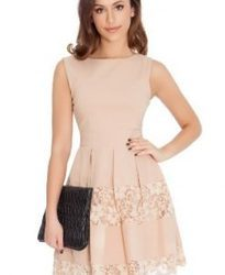 Faded Pink Western Dress For Womens