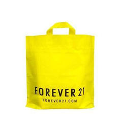 Yellow Printed Shopping Plastic Bag, Usage: Shopping