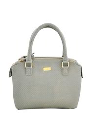 Yelloe Compact Taupe Color Synthetic Leather Hand Bag With M