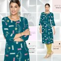 Erose 2- Libas Rayon Checks With Fancy Pattern Kurtis