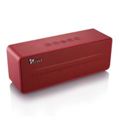 Rectangular Syska Red Portable Bluetooth Speaker, Model Name/Number: BT670-BK